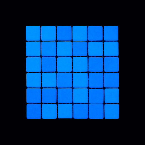 Opus One OCEAN BLUE Glow-in-the-dark Glass Tile  (6 inch SAMPLE)