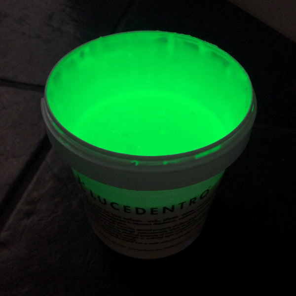 1-qt can of YELLOW GREEN Photoluminescent Glow-in-the-dark Paint