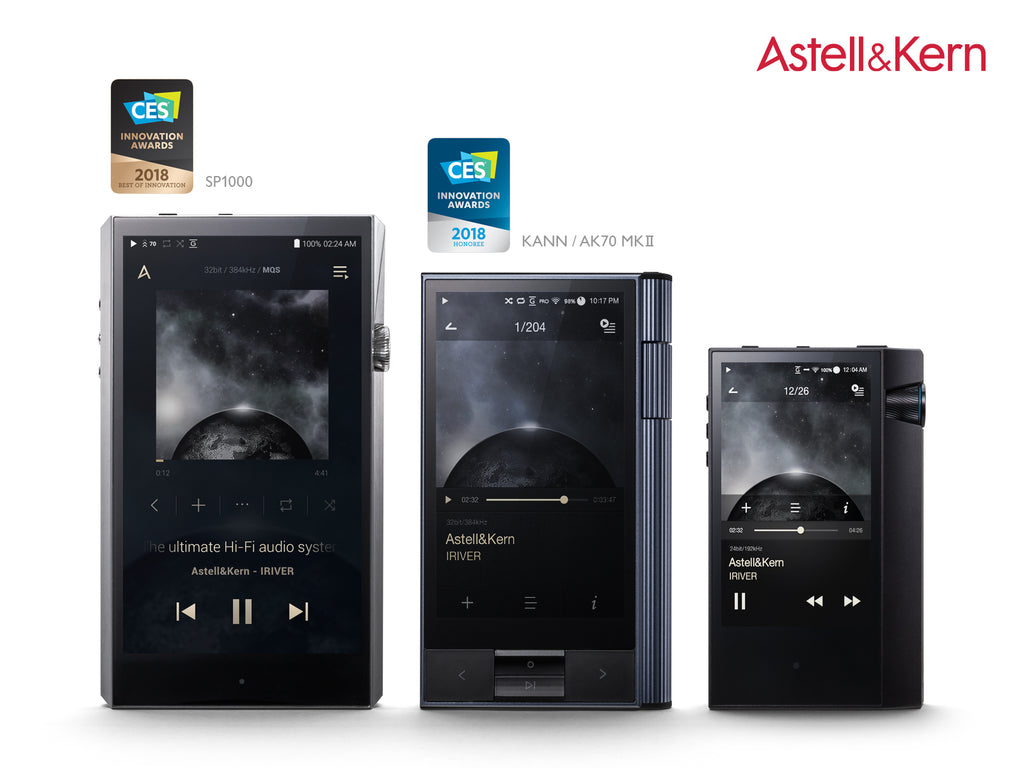 Three Astell&Kern Players Receive CES 2018 Innovation Awards