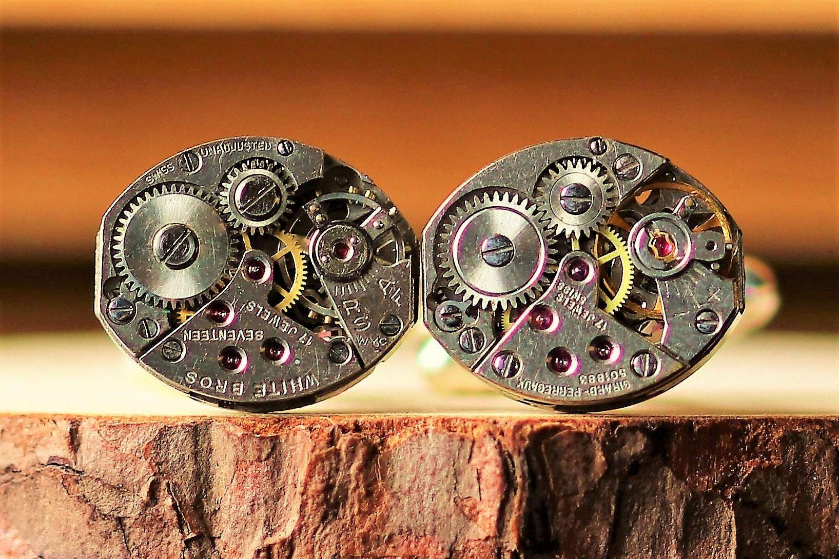 Oval Shape Watch Movement Cuff links