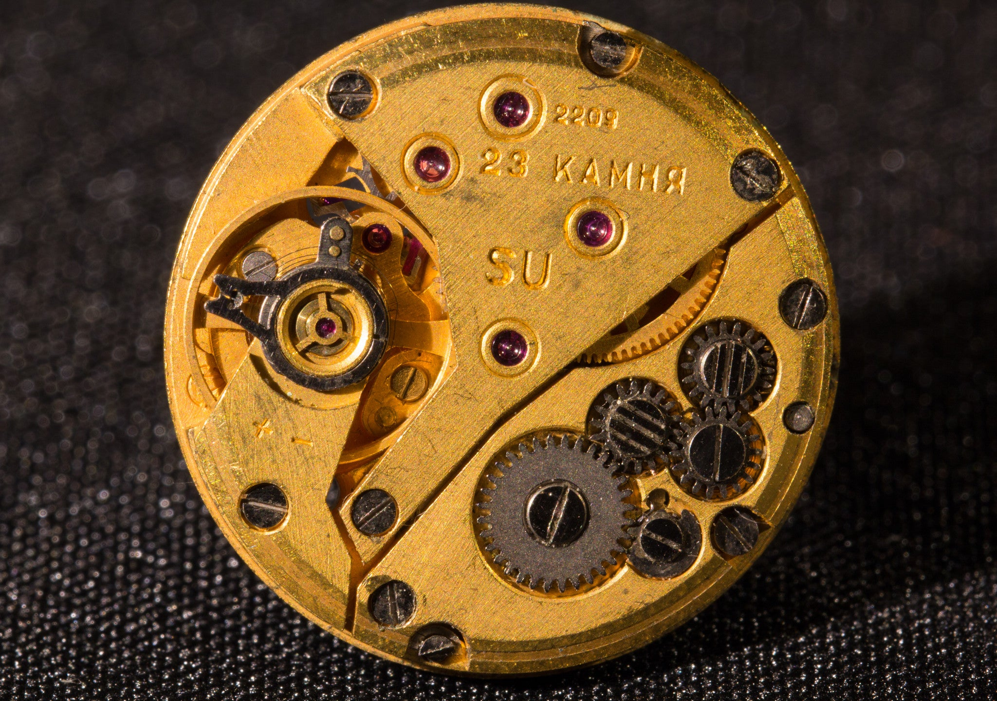 Golden Watch Movement Lapel Pin