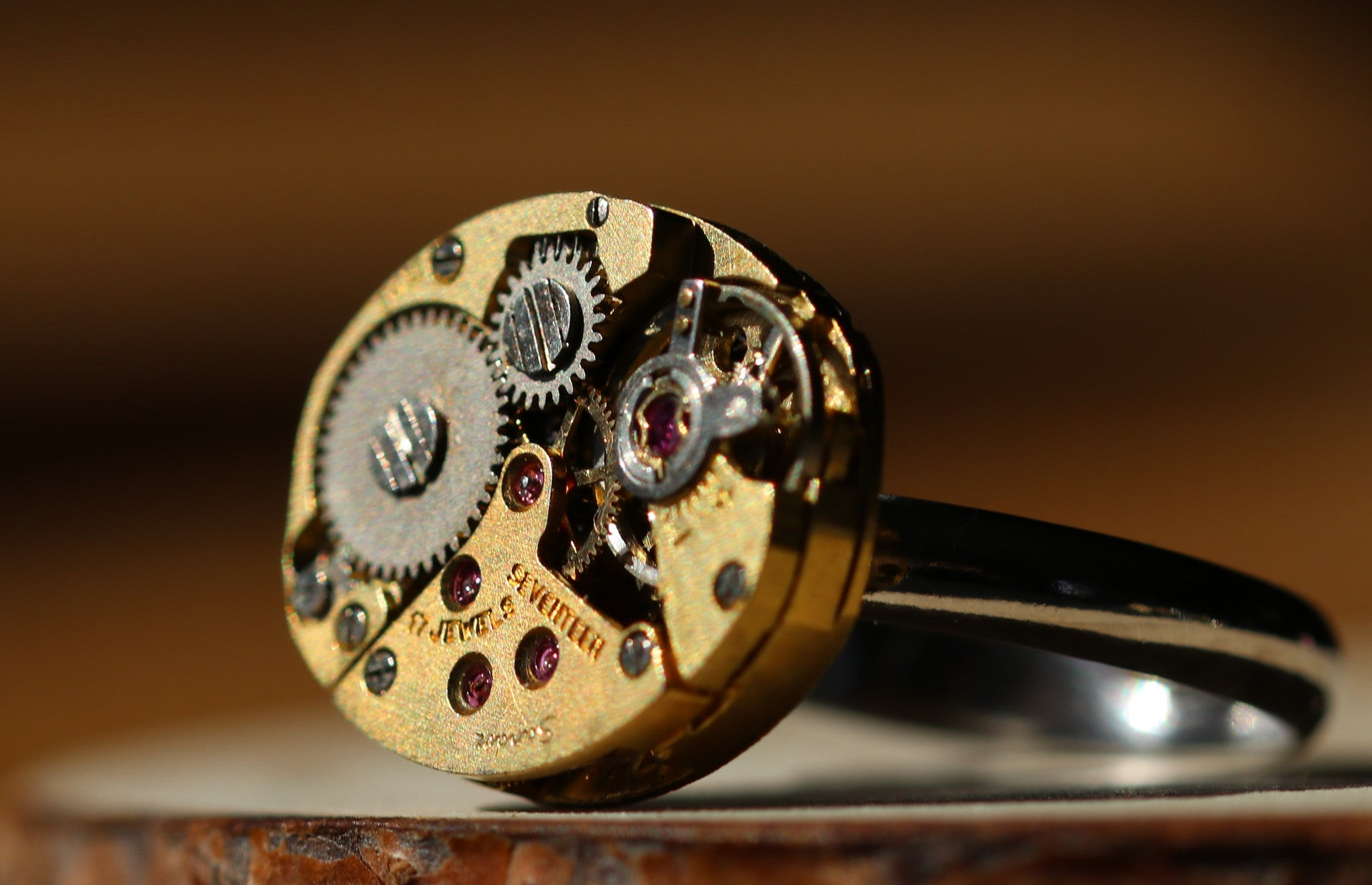 Oval Golden Watch Movement Ring - Sandoz