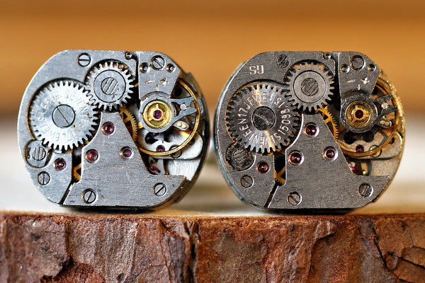 Square Watch Movement Cuff Links