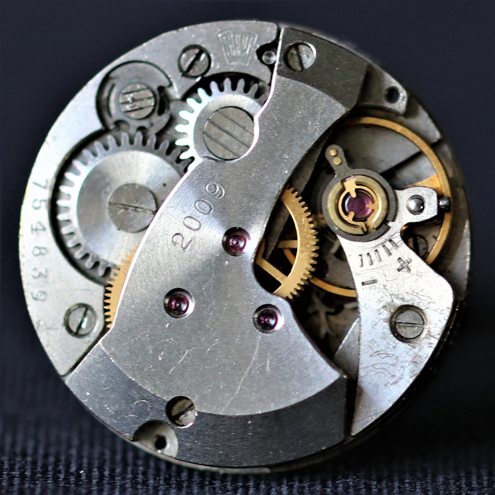 Round Levelled Watch Movement Cuff Links