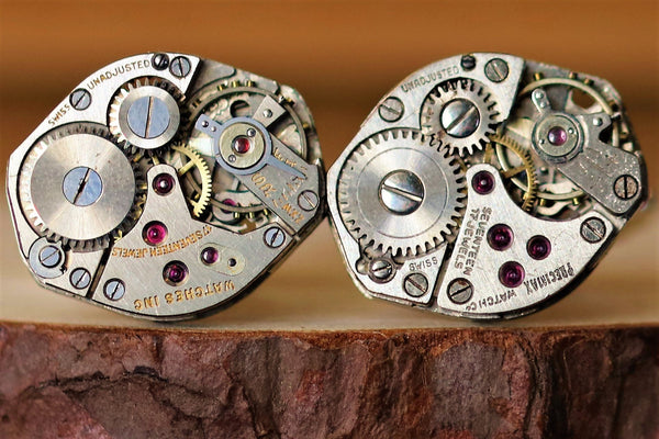 Diamond Shaped Watch Movement Cuff Links