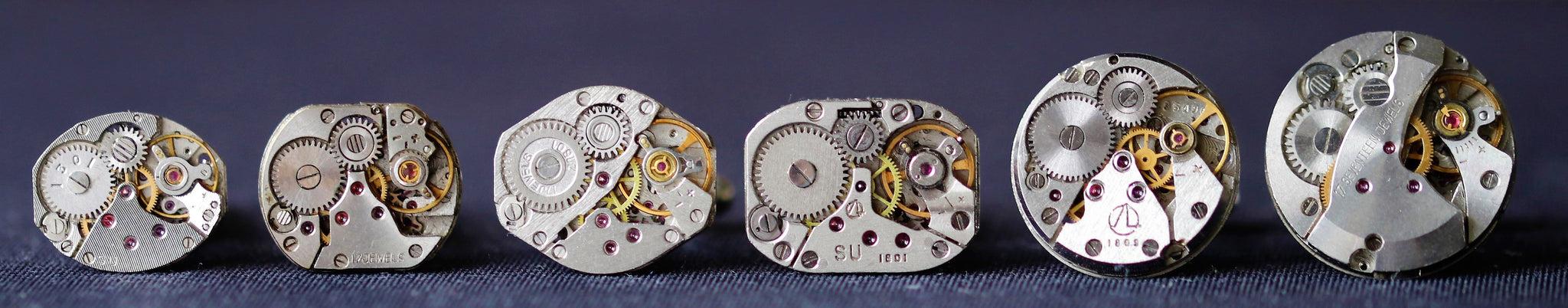 Round Watch Movement Cuff Links