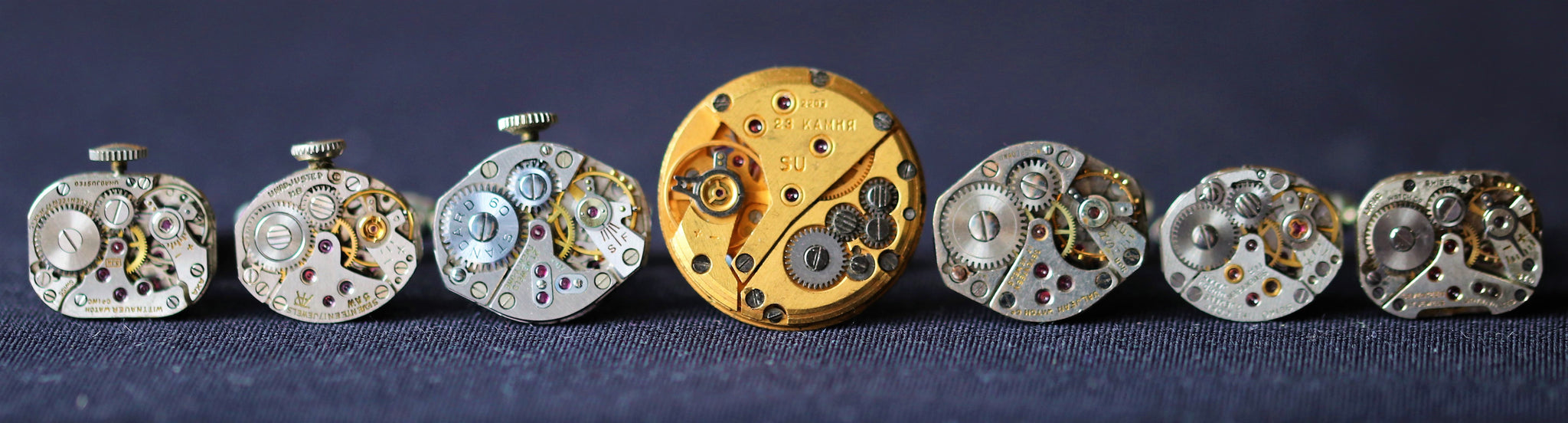 Envelope Watch Movement Cuff Links