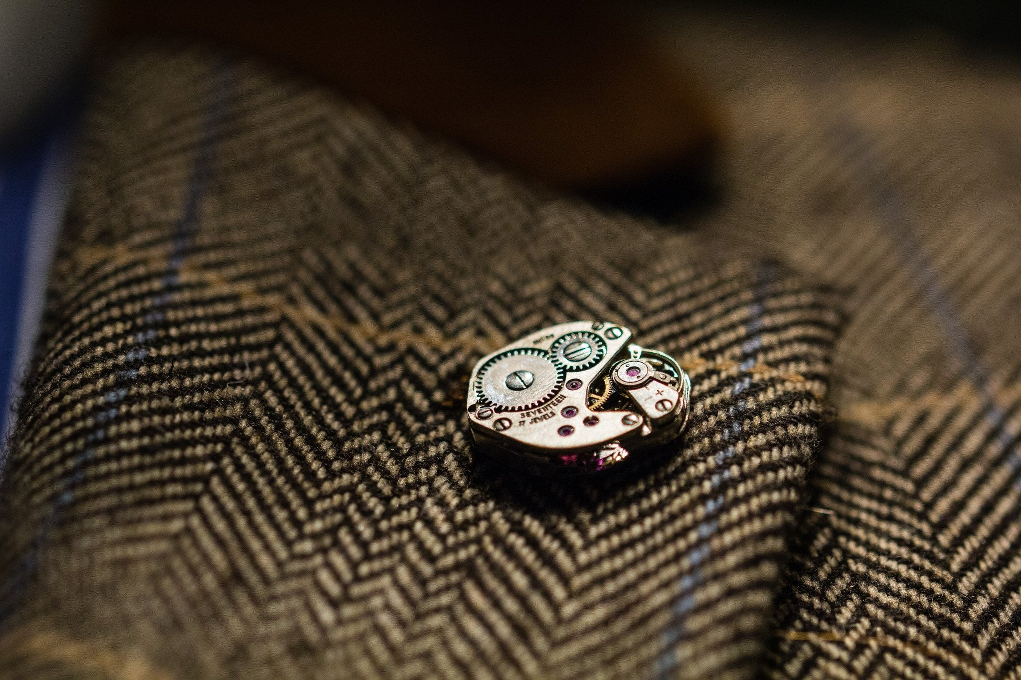 Diamond Shape Watch Movement Lapel Pin