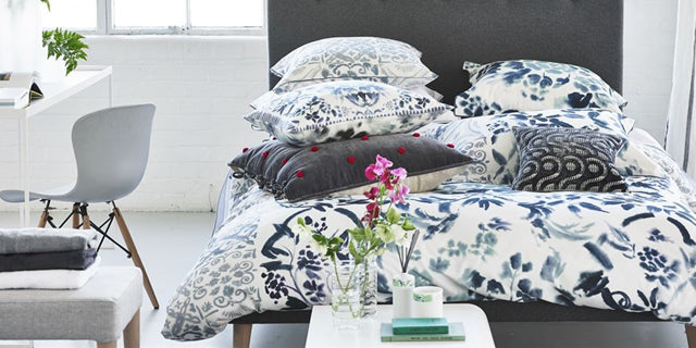 Duvet and pillowcases on a bed