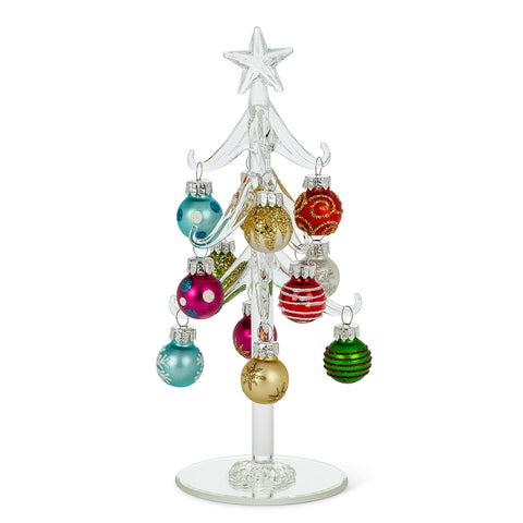 Tree Glass w/Ornaments