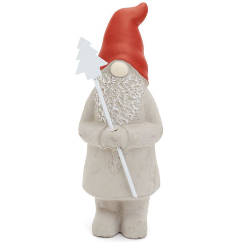 Santa Gnome Grey/Red Star/Tree