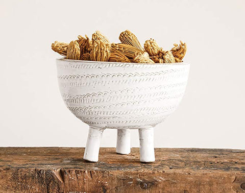 Bowl Embossed Terra Cotta Foote