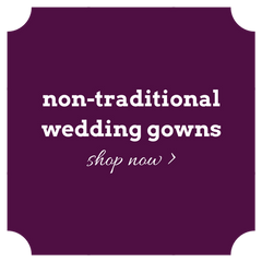 Shop non-traditional wedding dresses