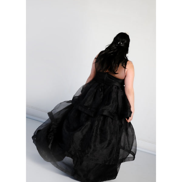 Adelaide Gown with Tiered Organza Skirt