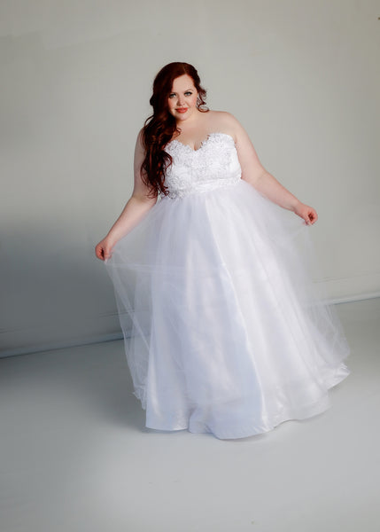 Barbera Gown with Tulle Skirt