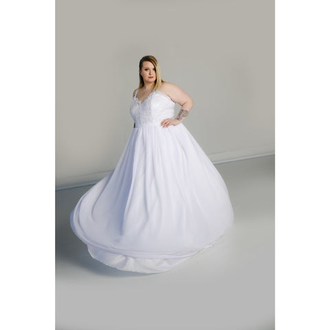 Blair Gown with Chiffon Skirt