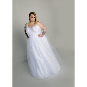 Blair Gown with Tulle Skirt