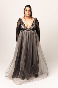 Fallon Gown with Tulle Skirt