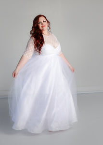 Linda Gown with Tulle Skirt