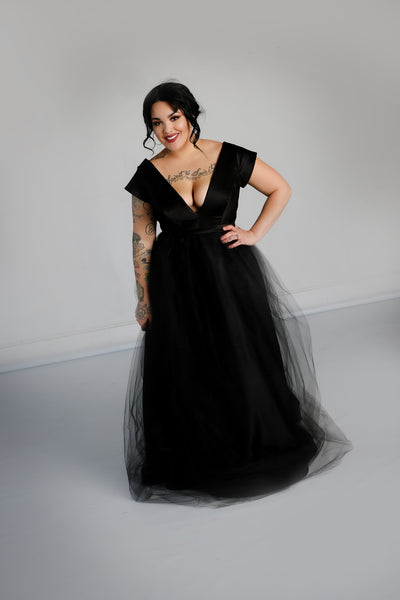 Nora Gown with Tulle Skirt