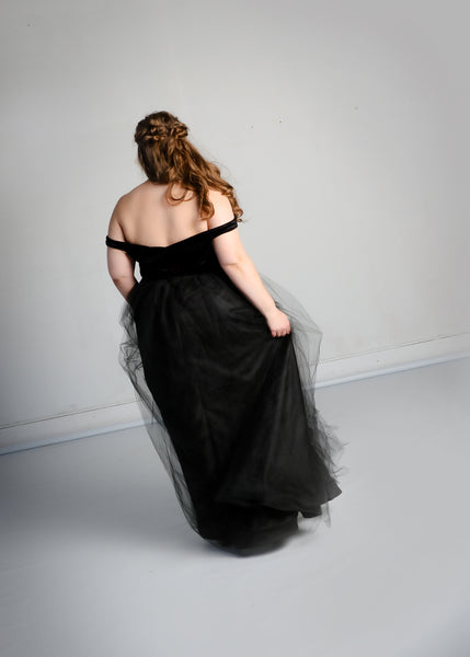 Sandy Gown with Tulle Skirt