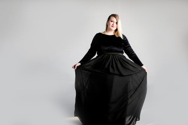 Venus Gown with Chiffon Skirt