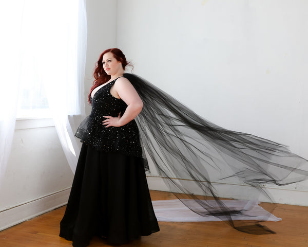 Tulle Shoulder Veil Set