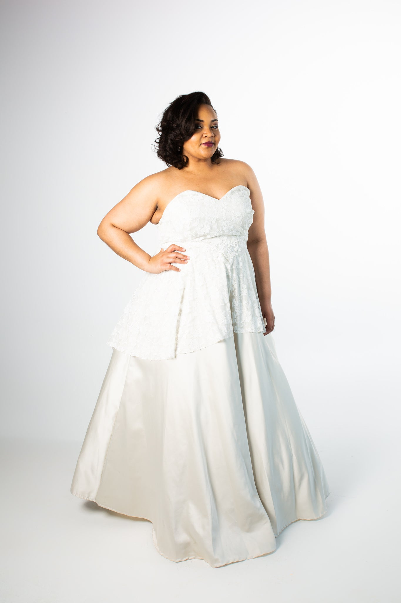 Rosie Layered A-line Gown