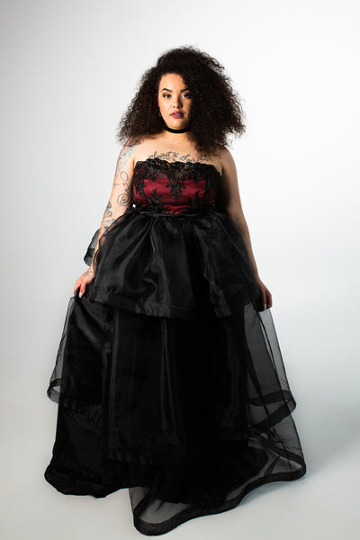 Zinfandel Lace Organza Ball Gown