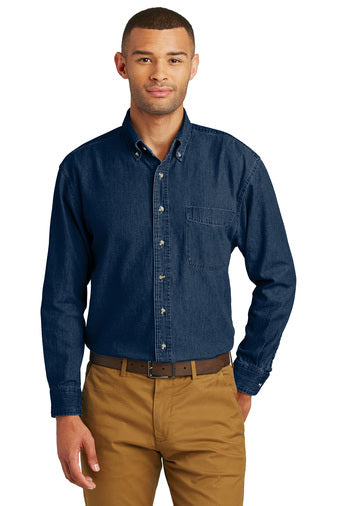 MTC: SP10 Port & Company® - Long Sleeve Value Denim Shirt
