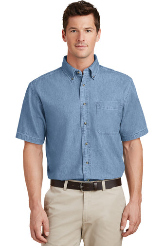 MTC: SP11 Port & Company® - Short Sleeve Value Denim Shirt