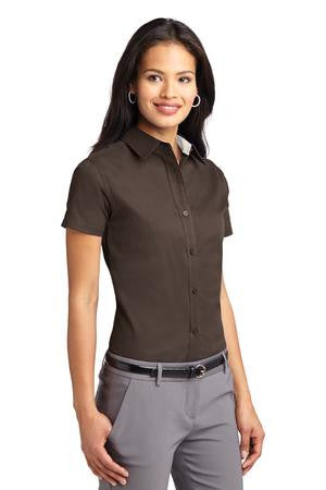 Somerset Dade: Port Authority® Ladies Short Sleeve Easy Care Shirt. L508
