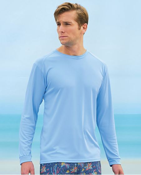 MALE-Paragon Islander Long Sleeve Performance Tees