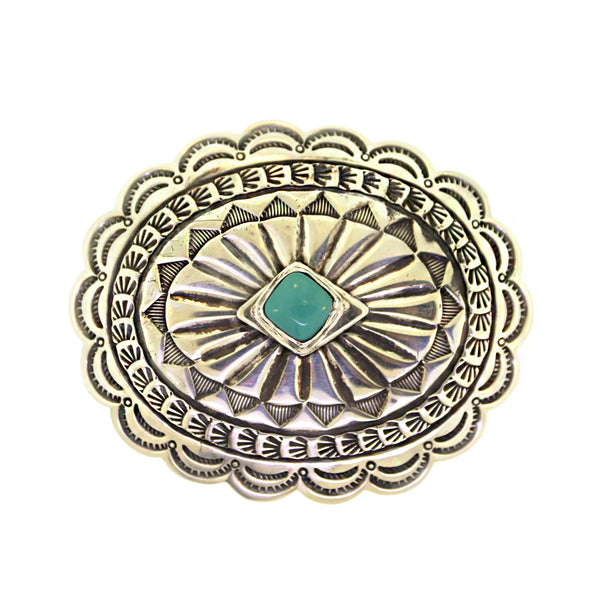 Vintage 1970s Turquoise Concho Buckle