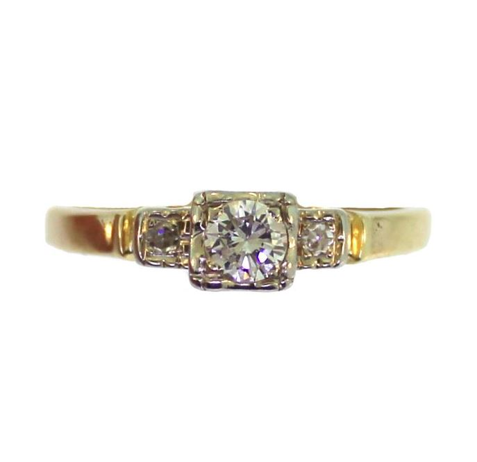 Art Deco 0.23ctw Diamond Ring