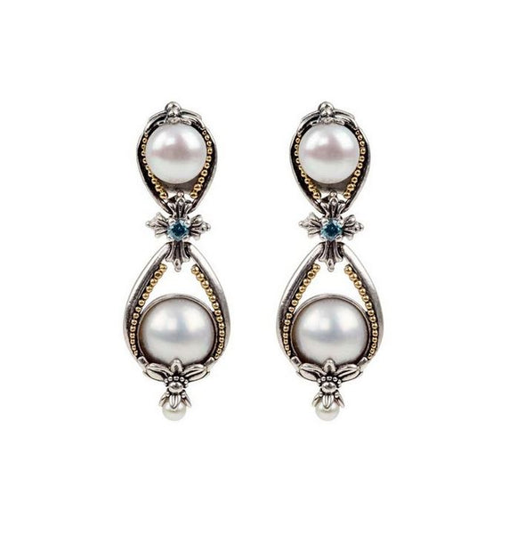 Thalia Pearl Teardrop Earrings