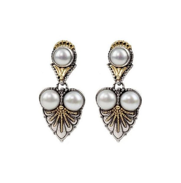 Thalia Triple Pearl Drop Earrings