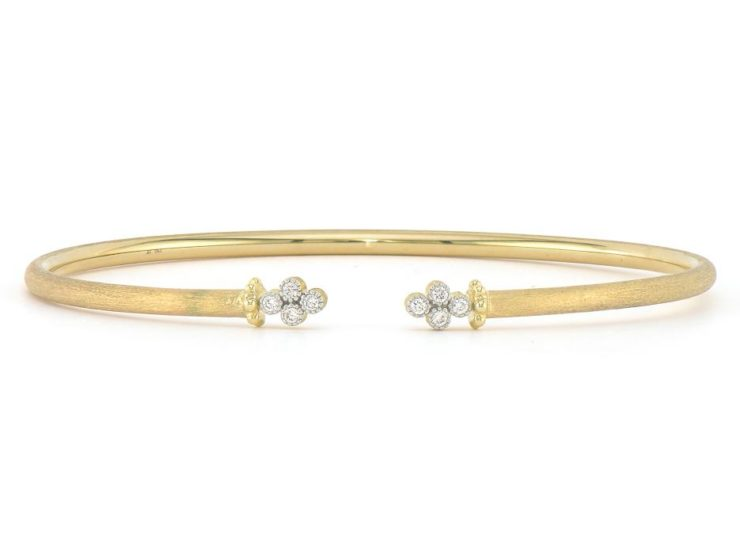 Open Diamond Quad Flexible Bangle