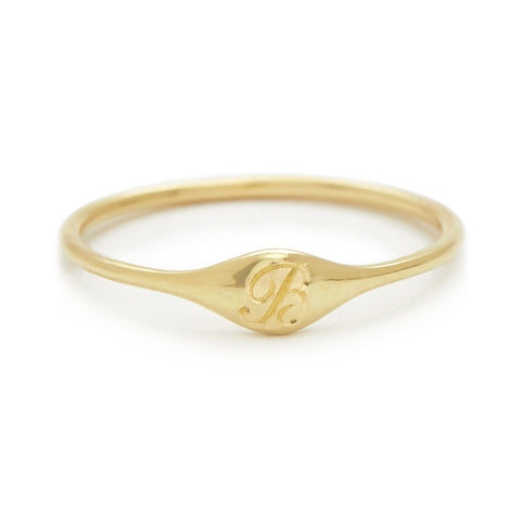 Mini Signet Ring - B