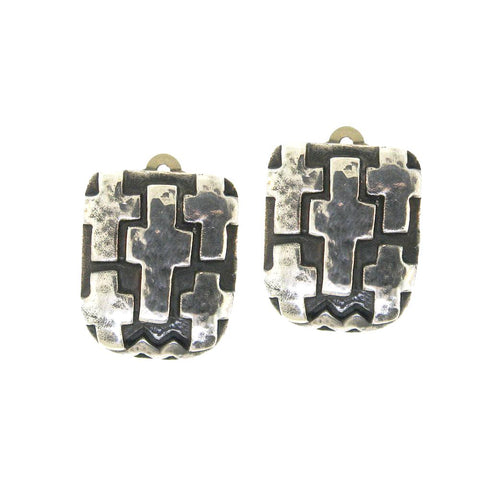 Cross Clip Earrings