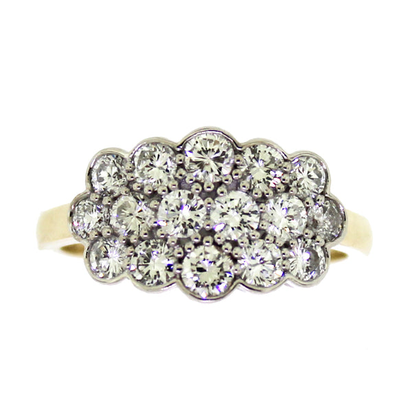 Diamond Cluster Top Ring