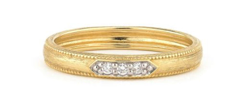 Delicate Lisee Triple Diamond Pave Band