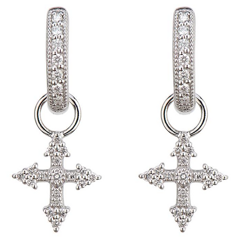 Provence Champagne Tiny Cross Huggie Charms