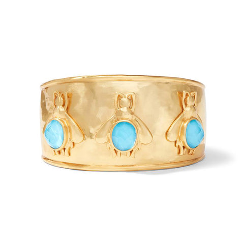Bee Cuff with Iridescent Pacific Blue