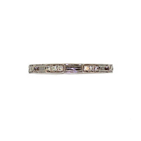 Alternating Raised Diamond Bar Ring