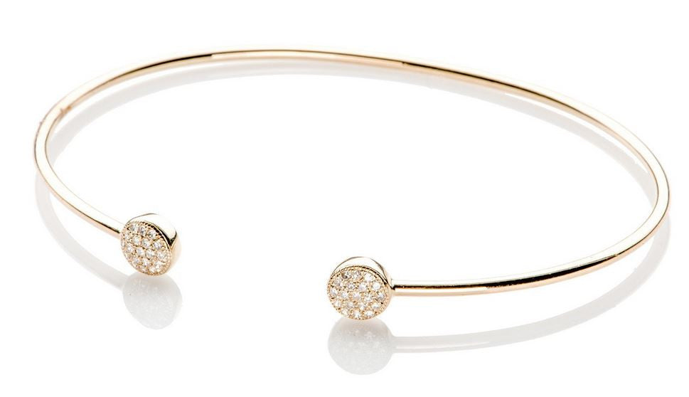 Diamond Mini Double Disc Bangle