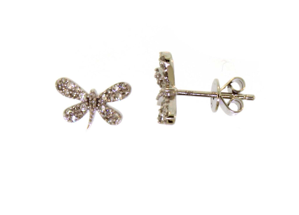 Diamond Dragonfly Stud