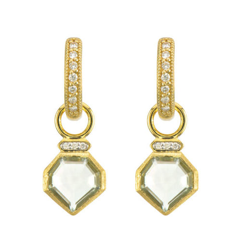 Lisse Heptagon Stone Earring Charms