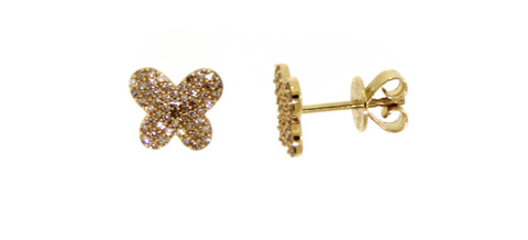 Diamond Butterfly Stud