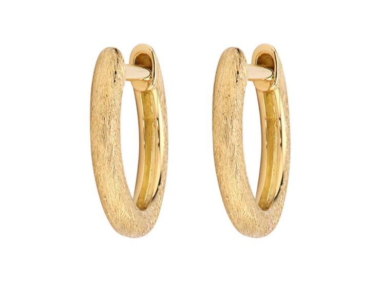 Plain Delicate Gold Hoops